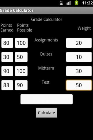 Easy Grade Calculator - screenshot