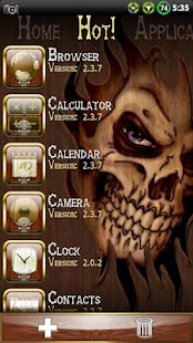 Wood Skull ssLauncher Theme- screenshot thumbnail
