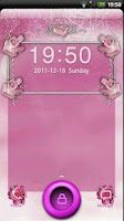 Screenshot of GO Locker Pink Roses Theme