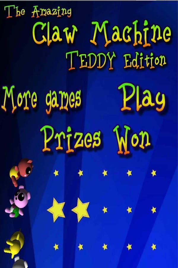 teddy claw machine