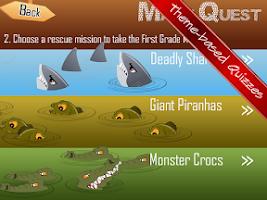 Screenshot of First Grade Math Quest Quiz 1
