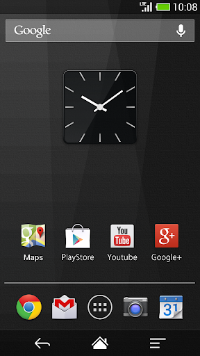 スクエアガラスの時計ウィジェット -Me Clock