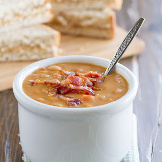 Homemade Bean and Bacon Soup