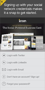 Icon: The Social Business Card- screenshot thumbnail