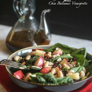 Cranberry Apple Salad with Chia Balsamic Vinaigrette