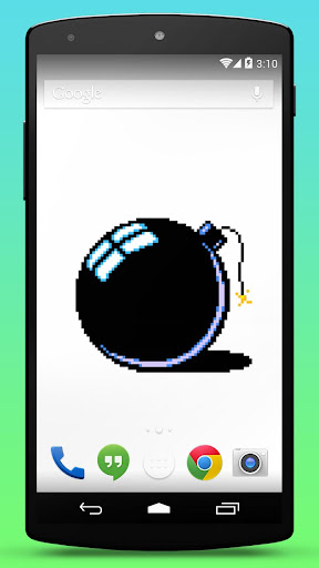 Pixel Bomb Live Wallpaper