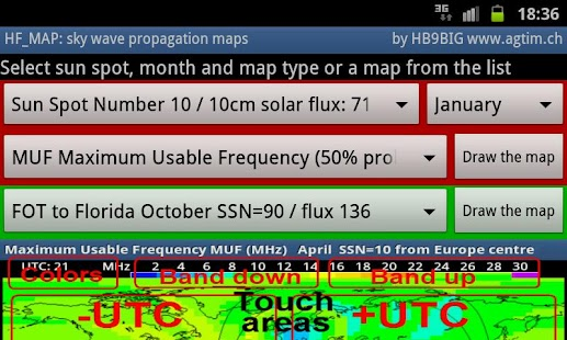 HF_MAP Sky Wave propagation