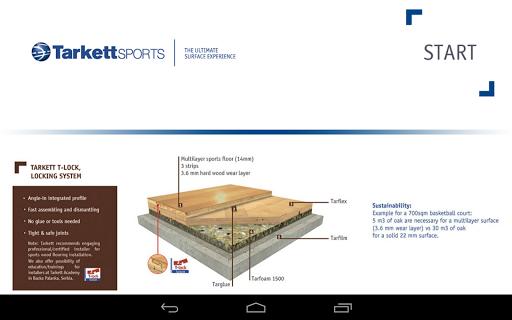 Tarkett Wood Sports Visualiser
