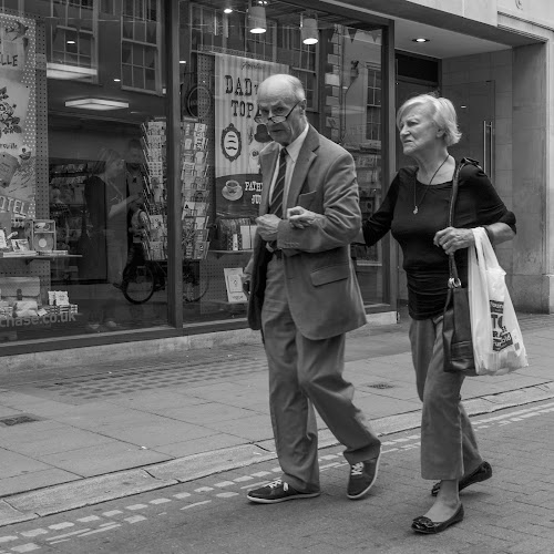 Earl Grey is preferred by Jack Brittain - Black & White Street & Candid ( uk, england, b&w, yorkshire, street, couple, york, candid,  )