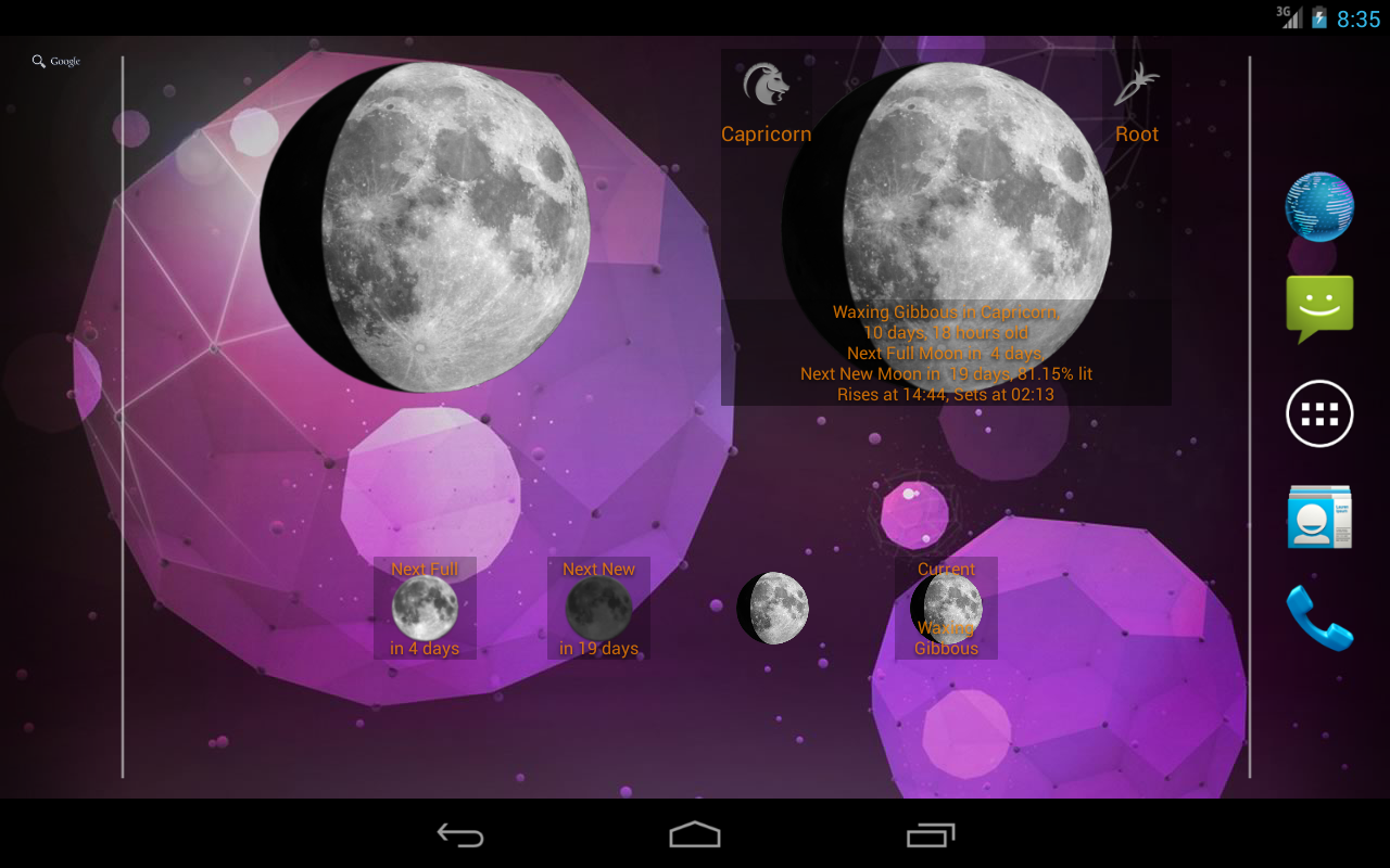 Moon Phases Widget- screenshot