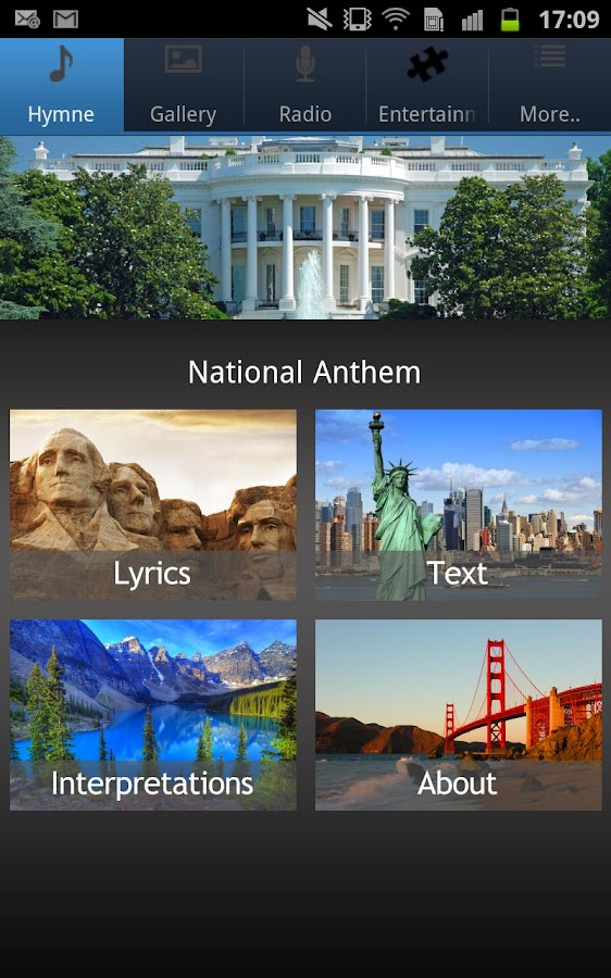 National Anthem United States - screenshot