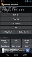 Screenshot of Ultimate Umpire Scorecard
