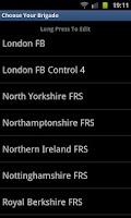 Screenshot of UK Fire Brigade Rota