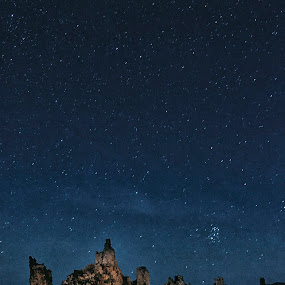 Wish Upon A Star by Robert Fawcett - Landscapes Starscapes ( mono lak, stars, california, places, travel, landscape )