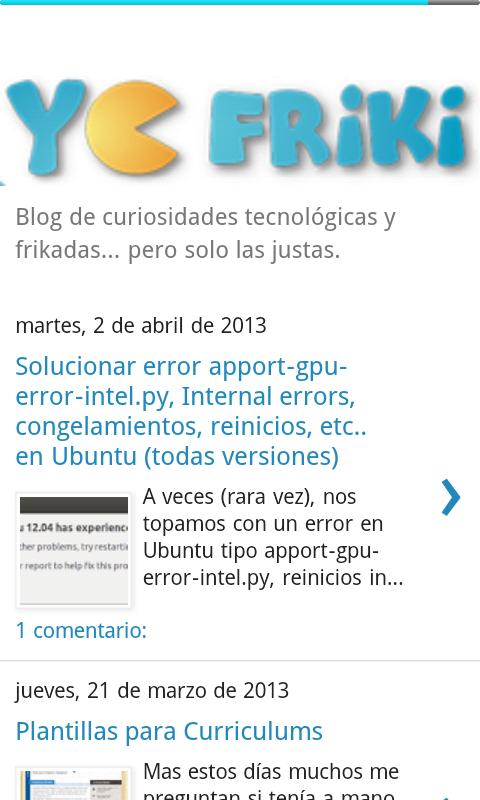 Yo Friki Blog - screenshot