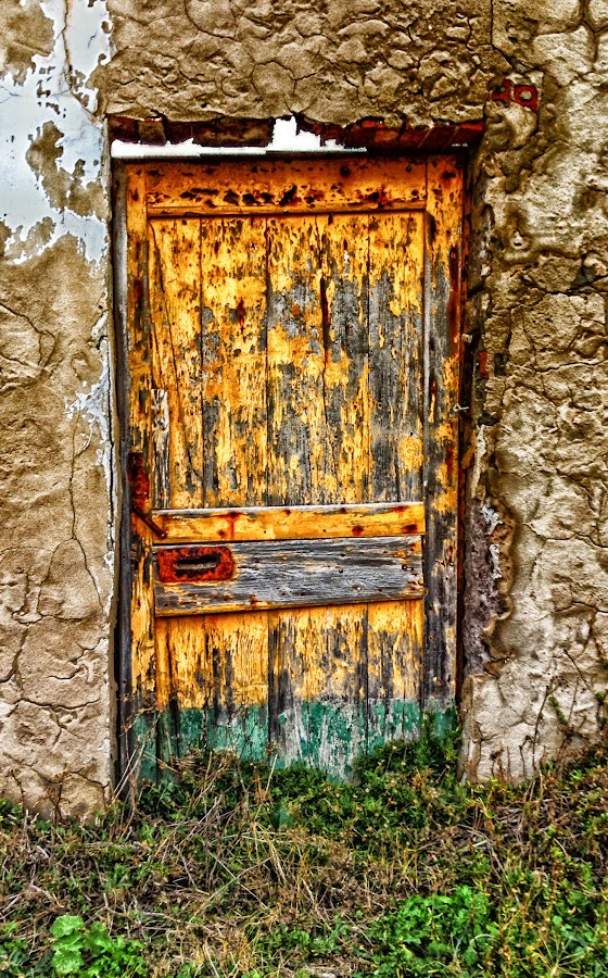 Yellow and Green door by Antonello Madau - Instagram & Mobile iPhone