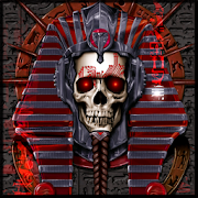 Undead Pharaoh Skull Wallpaper