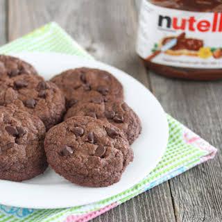 Easiest Fudgy Nutella Cookies.