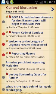 League of Legends Forums - screenshot thumbnail