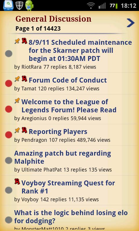 League of Legends Forums - screenshot