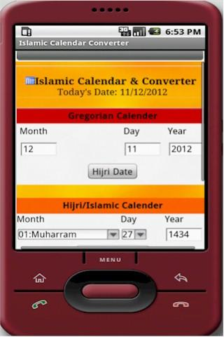 Islamic Calendar Converter- screenshot