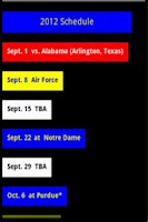 Screenshot of Michigan Football Schedule