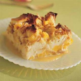 Mango-Coconut Bread Pudding.