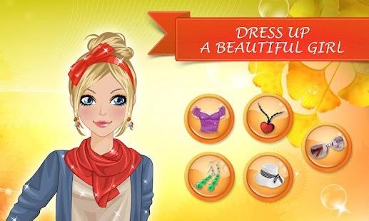 化妆游戏 - 秋季时尚。装扮游戏的女孩和儿童