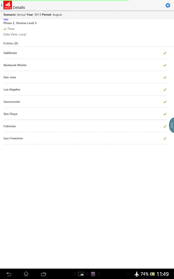 Oracle EPM Mobile- screenshot