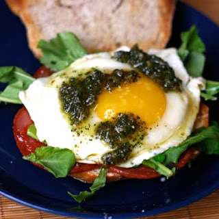 Chorizo Breakfast Sandwich with Sage Pesto