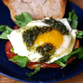Chorizo Breakfast Sandwich with Sage Pesto.