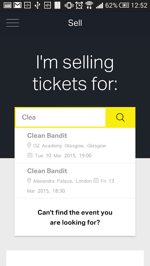 Twickets - screenshot