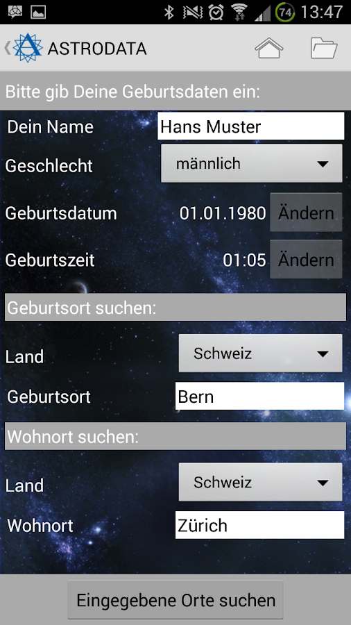 Astrodata Horoskop- screenshot
