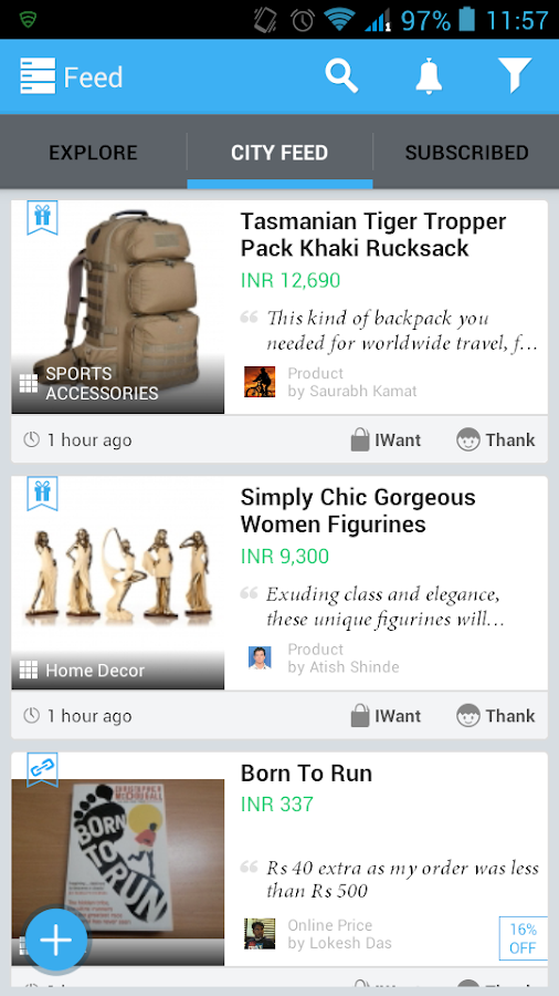 Wicfy- Local Social Shopping - screenshot