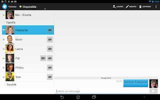 Screenshot of twinsee - chat and video calls