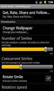 Smile Audio LiveWallpaper - screenshot thumbnail