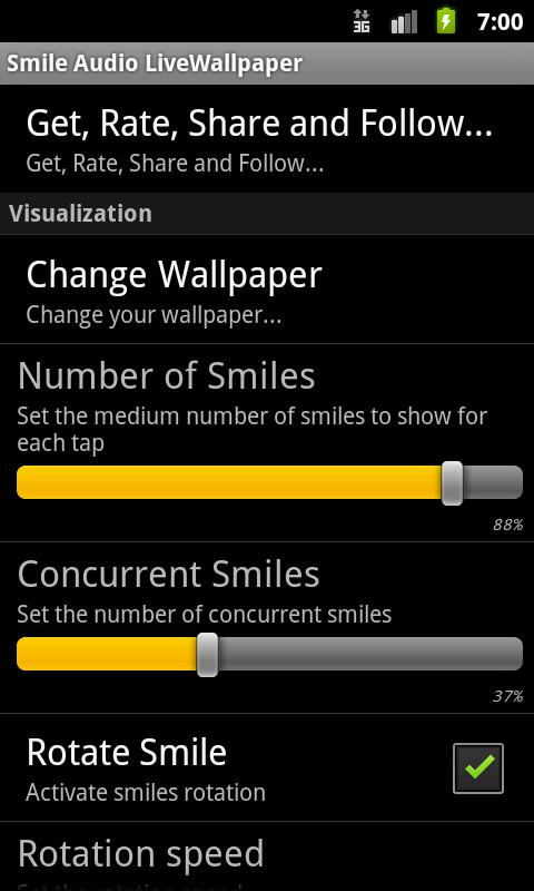 Smile Audio LiveWallpaper - screenshot