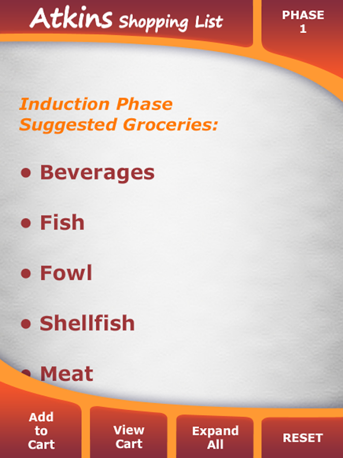 acceptable foods for phase 1 As you progress through the different phases of the atkins 20 diet, you can raise your daily net carb intake here is a list of foods that help weight loss.