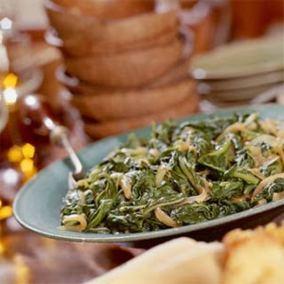 Turnip Greens With Caramelized Onions.