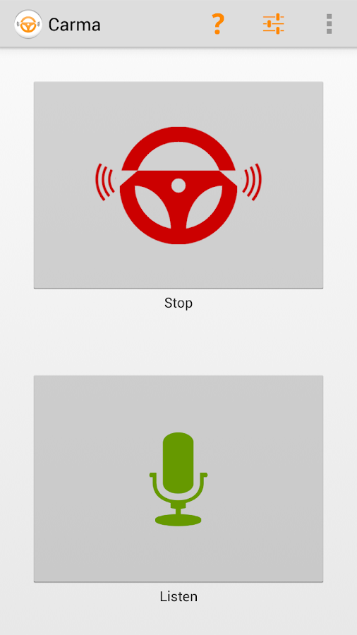 Carma In-Car Voice-Controlled - screenshot