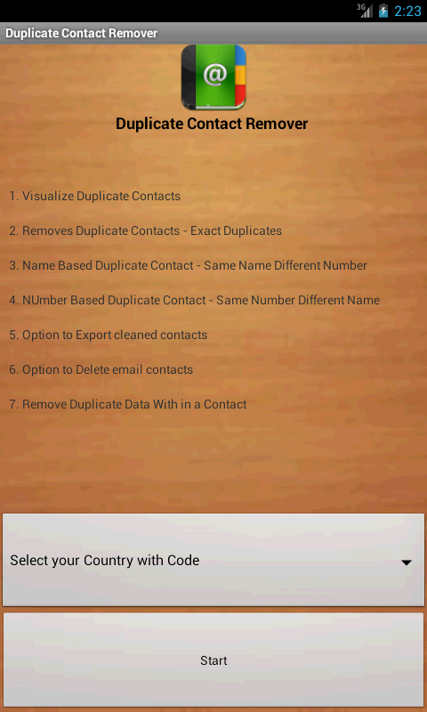 Duplicate Contacts Remover- screenshot