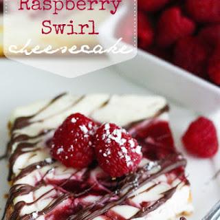 Skinny Raspberry Swirl Cheesecake.