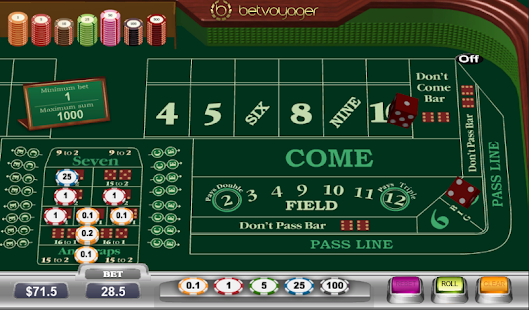 I play craps for a living