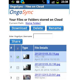 OngoSync- screenshot