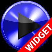 Poweramp widget BLUE METAL