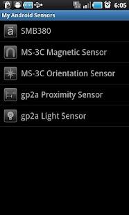My Android Sensors - screenshot thumbnail