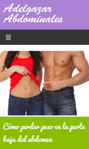 Adelgazar los abdominales