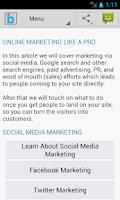 Screenshot of Marketing Plan & Strategy