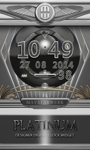 Digi Clock Widget Platinum