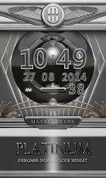 Digi Clock Widget Platinum APK screenshot thumbnail 1